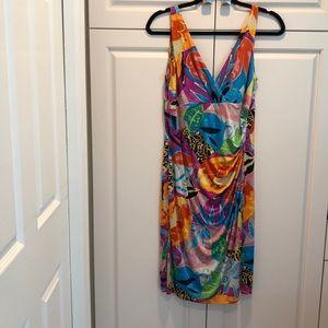 Ralph Lauren multicolor size 12 petite dress NWOT